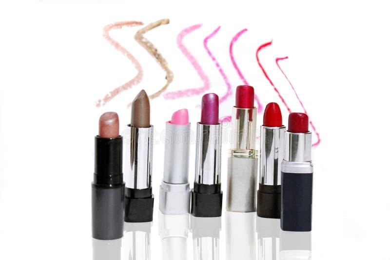 Lippenstiften stock foto's