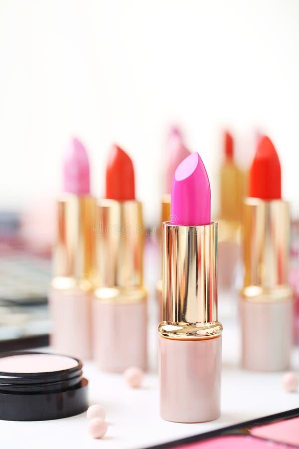 lippenstiften royalty-vrije stock afbeeldingen