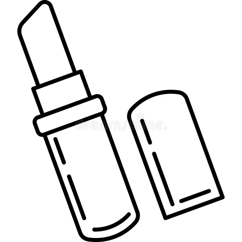 Lippenstiftikonenvektor stock abbildung