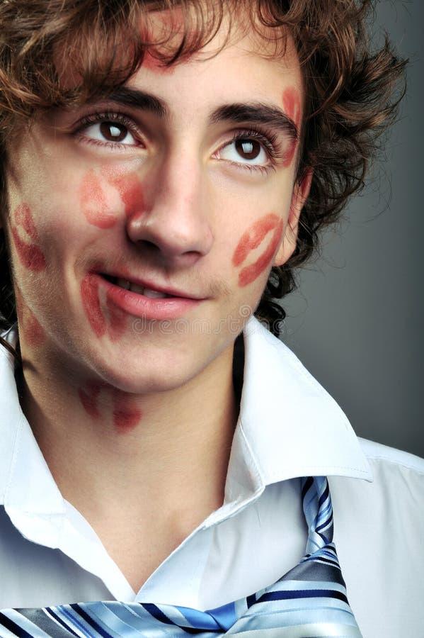 Lippenstiftküsse lizenzfreies stockfoto