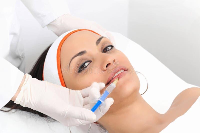 Lippenvermehrung stockfoto