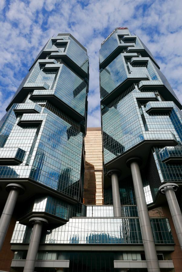 The Lippo Centre, Hong Kong stock images