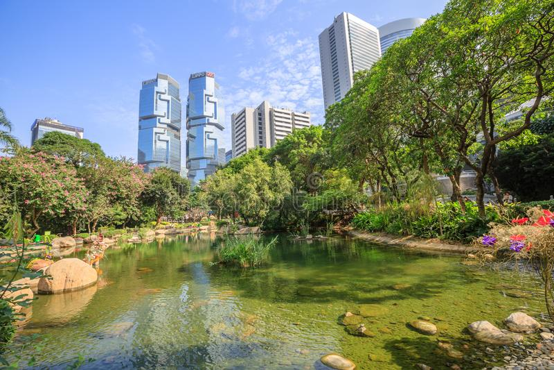 Lippo Centre Hong Kong royalty free stock photography