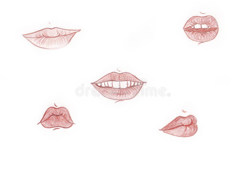 Download Lips stock illustration. Image of parts, shadow, sensual - 25595741