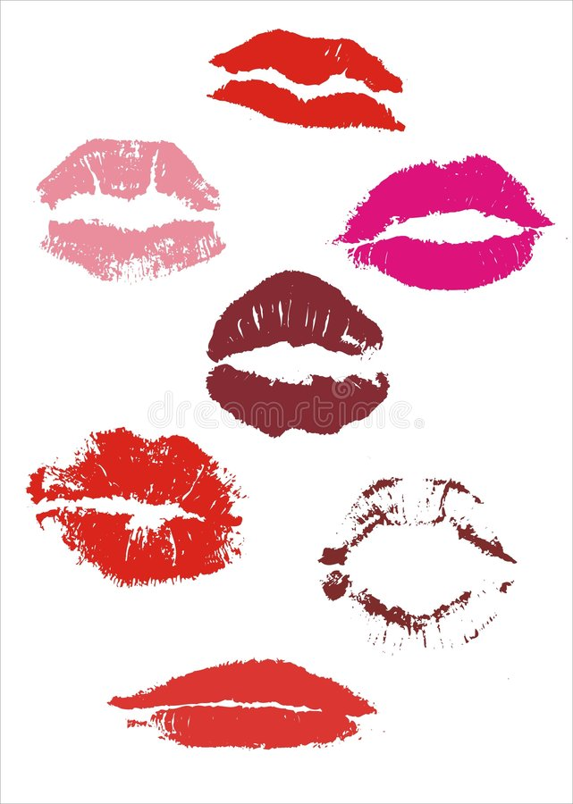 Download Lips stock vector. Image of collar, stamp, kiss, shape - 3414631
