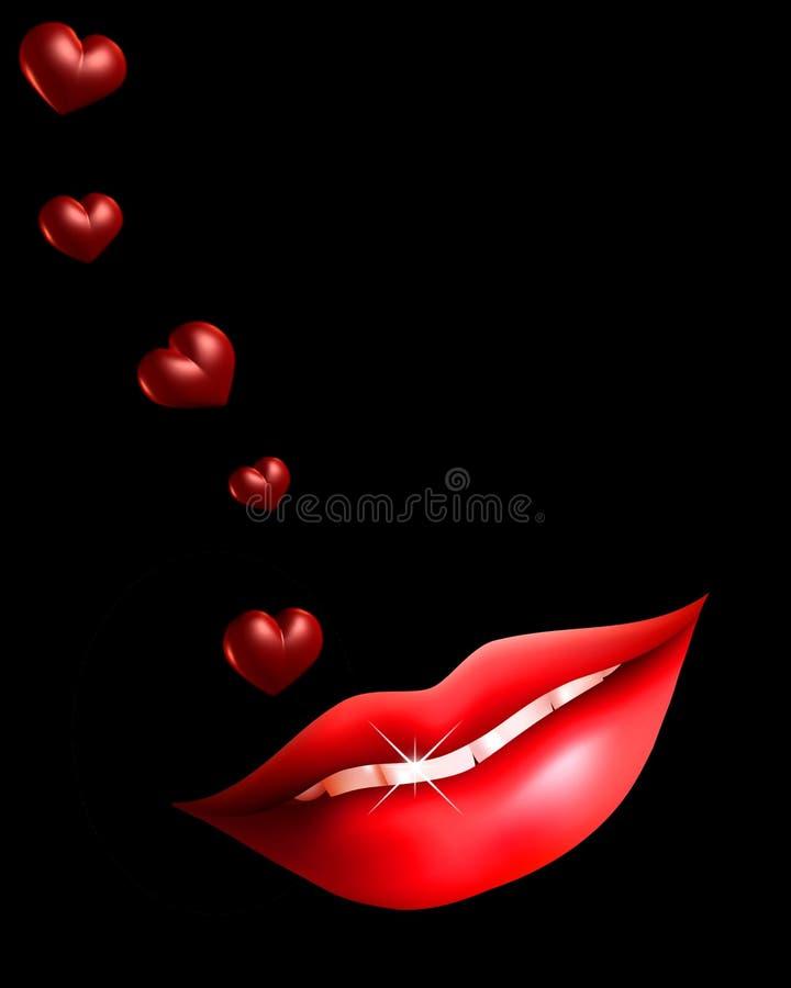 Free Lips And Hearts Royalty Free Stock Photo - 16381235