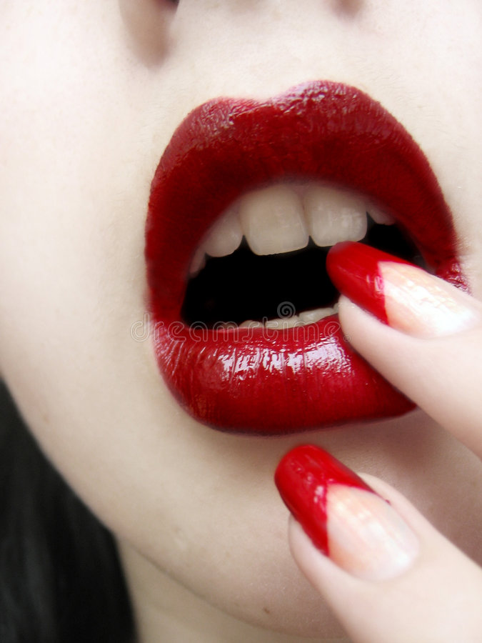 Free Lips And Nails Royalty Free Stock Photo - 332375