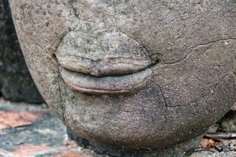 Lips of Buddha royalty free stock photo