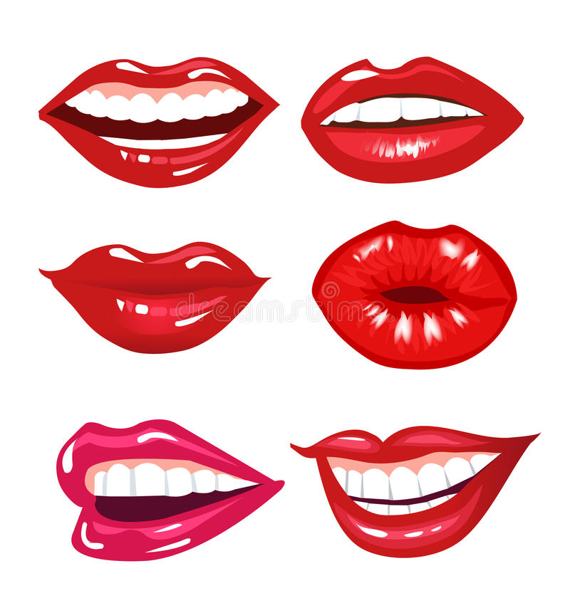Lips Collection Royalty Free Stock Photo