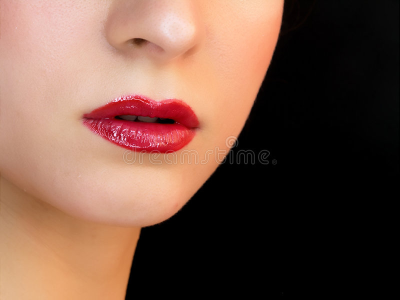 Lips and nose royalty free stock photos