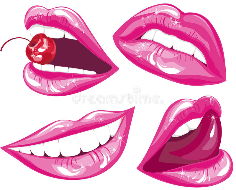 Lips set. Vector illustration stock illustration