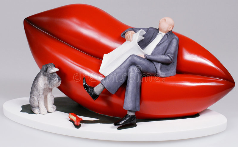 Download Lips Sofa Stock Image. Image Of Husband, Ceramic, Sitting   3764381