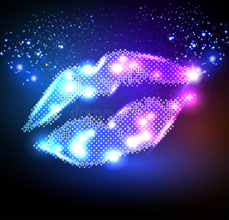 Download Lips for your poster stock vector. Illustration of night - 26825888