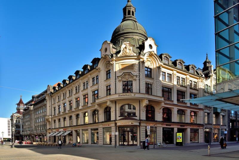 Lipsia Altstadt immagini stock