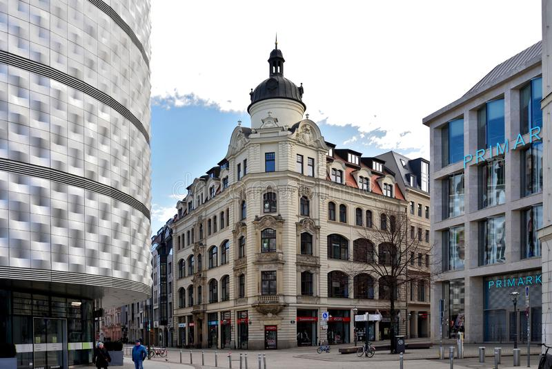 Lipsia Altstadt immagine stock