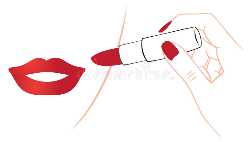 Download Lipstick stock vector. Image of halftone, pomatum, elegance - 28040876