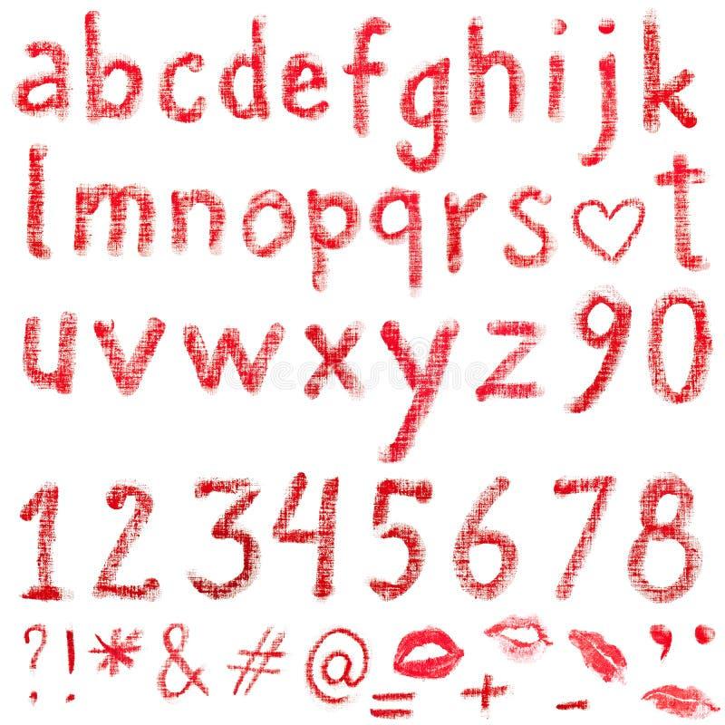 Lipstick alphabet royalty free stock photography