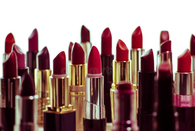 Abstract Lipstick Cityscape royalty free stock image
