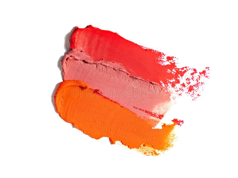Lipstick colorful samples. stock images