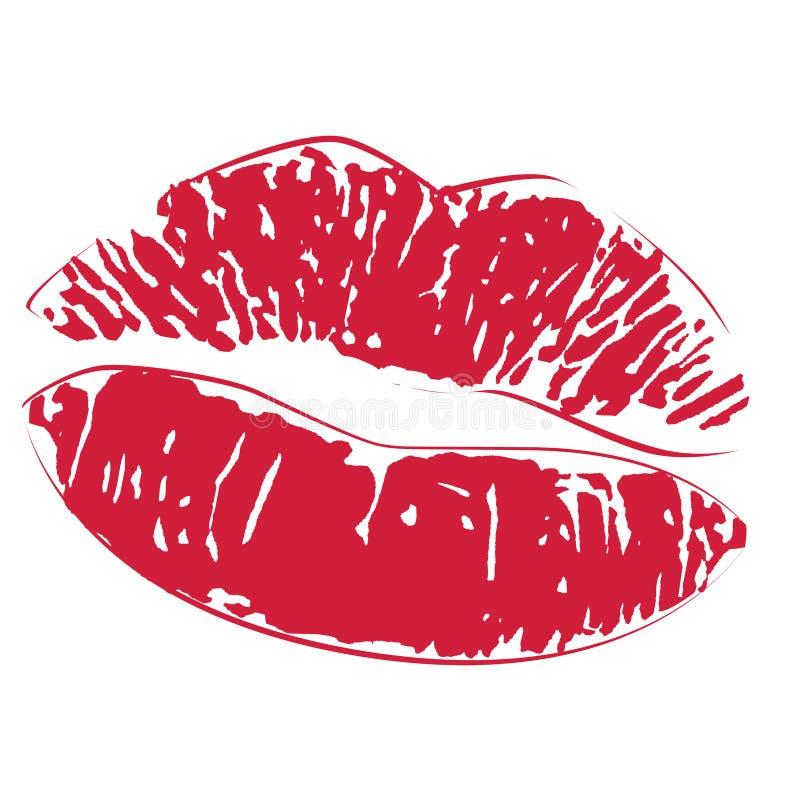 Free Lipstick Kiss Print Icon Royalty Free Stock Image - 7713796