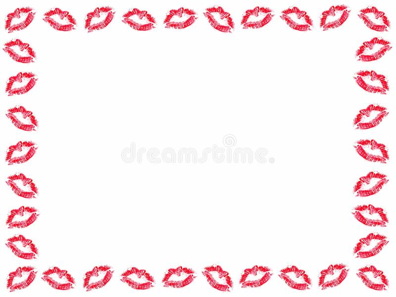 Download Lipstick Kisses Frame Royalty Free Stock Photos - Image: 36703808