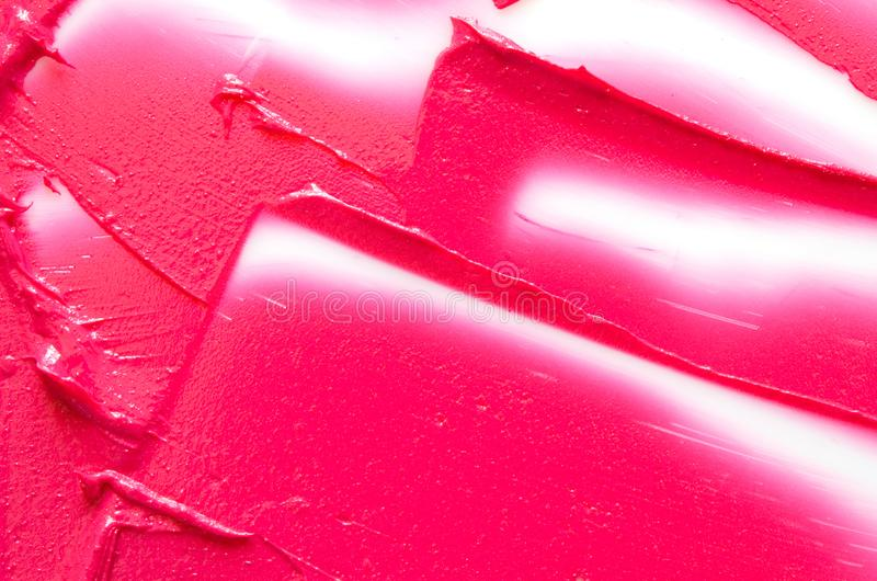 Lipstick smear sample texture.  Abstract colorful pink paint brush and strokes. Image stock images