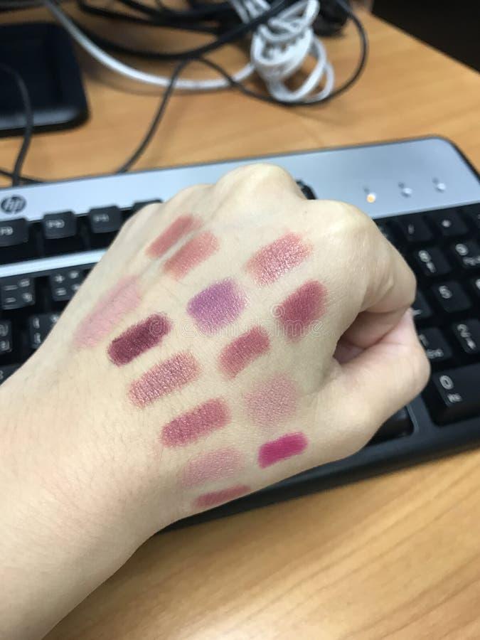 Lipstick Test stock photos