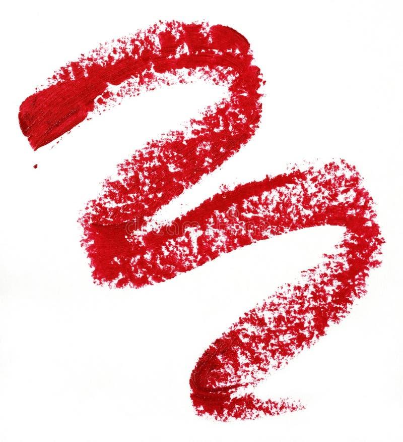 Lipstick trace stock photo