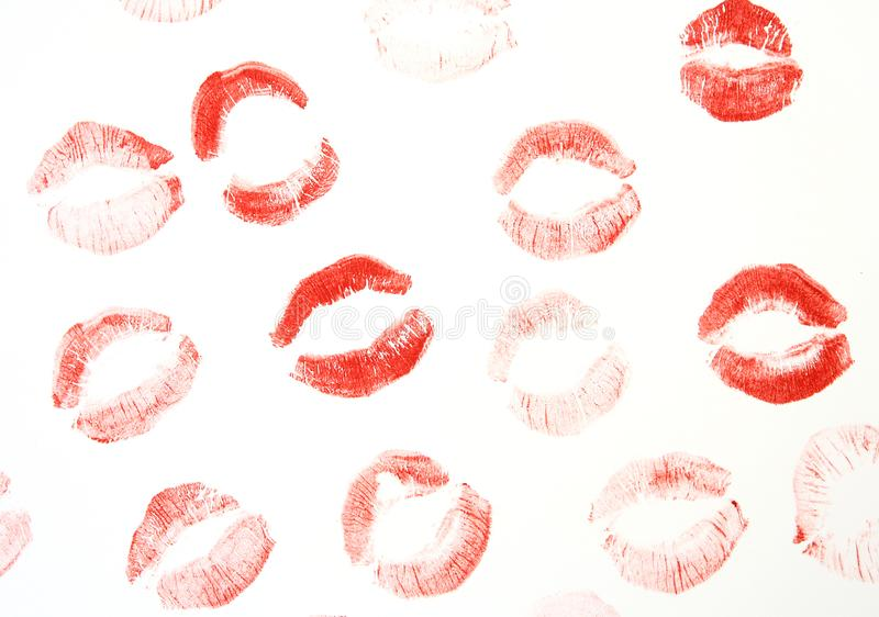 Lipstick on white background stock images