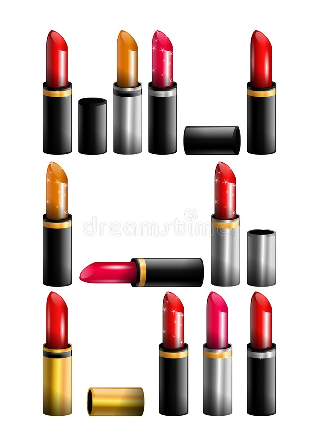 Lipsticks royalty free stock photography