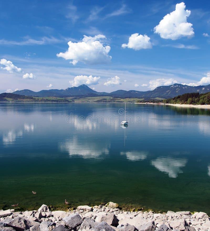 Liptovska Mara lake in summer royalty free stock images