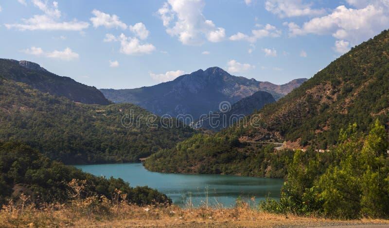 Liqueni/Ulzes emerald lake Albania stock photography