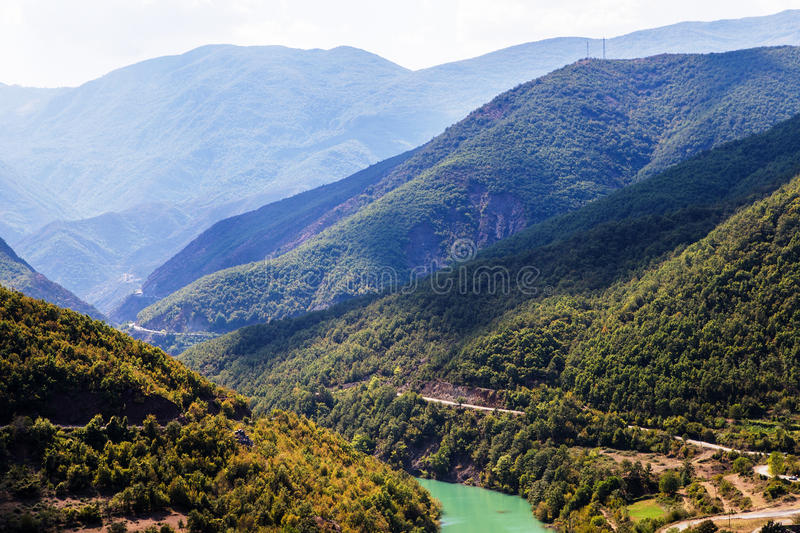 Liqueni/Ulzes river in Albania royalty free stock image