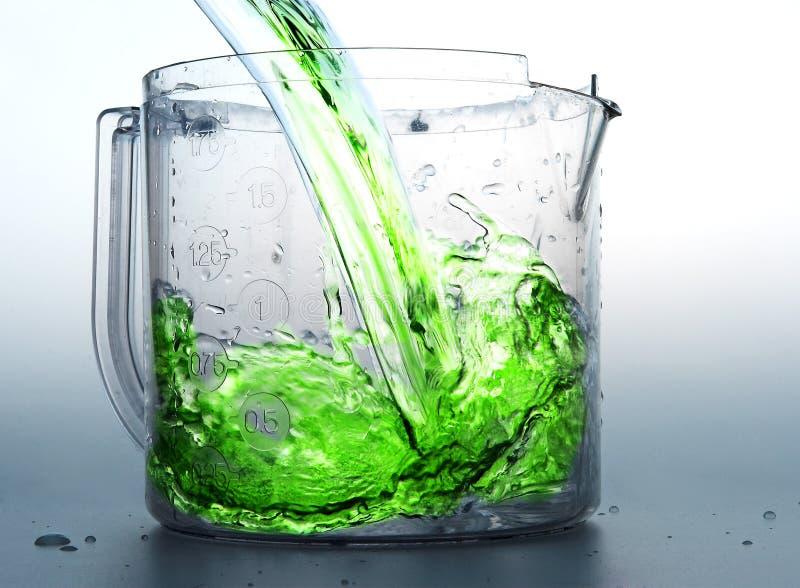 Liquid. Green liquid stock photo