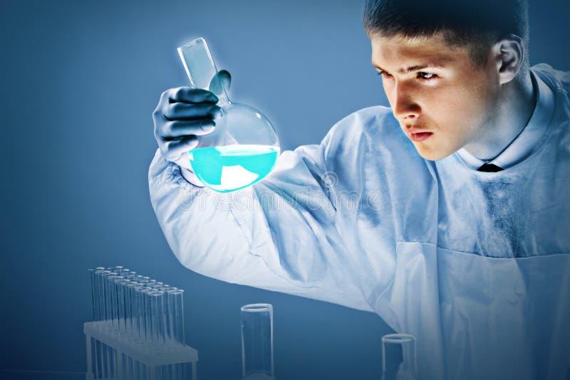 Download Liquid in beaker stock photo. Image of person, biotech - 26817024