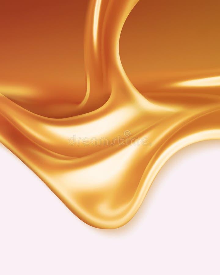 Liquid caramel vector illustration