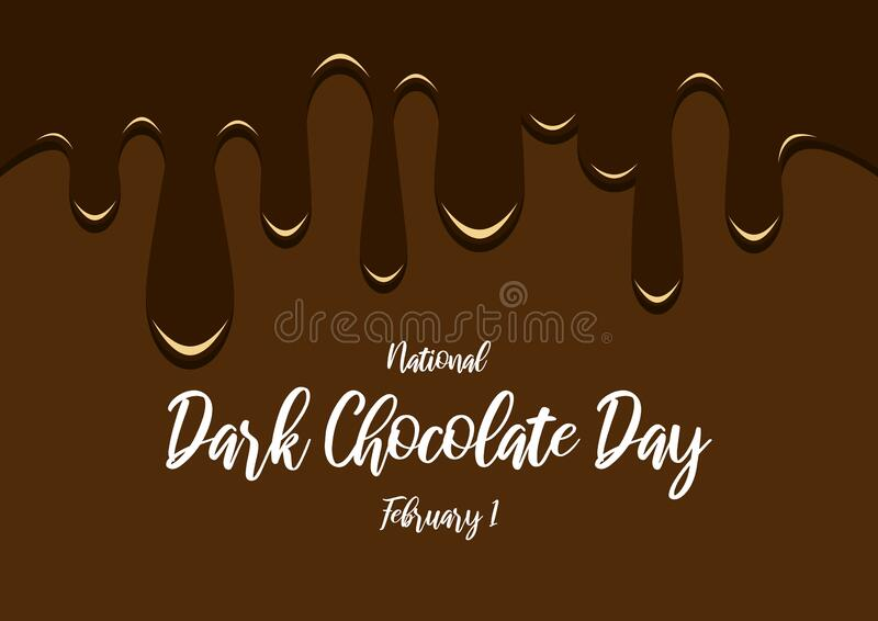 National Dark Chocolate Day vector royalty free stock photography