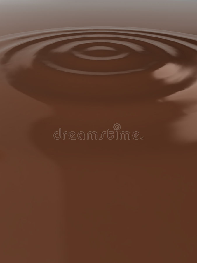 Download Liquid chocolate ripples stock illustration. Image of background - 9241354