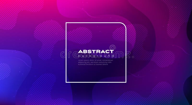 Liquid color background design. Fluid gradient shapes composition. Futuristic design posters. Eps10 vector. vector illustration
