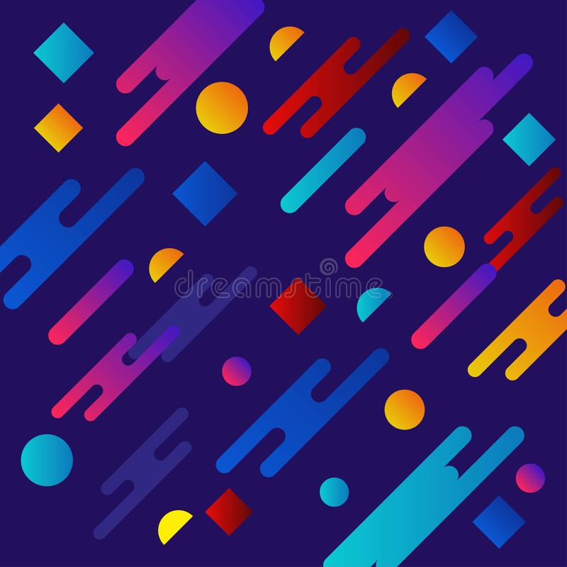 Liquid color background design. Fluid gradient shapes composition. Futuristic design posters. Eps10 vector. stock illustration