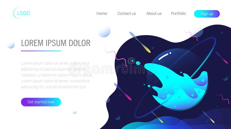 Landing page template. Header for website. eps10 vector illustration