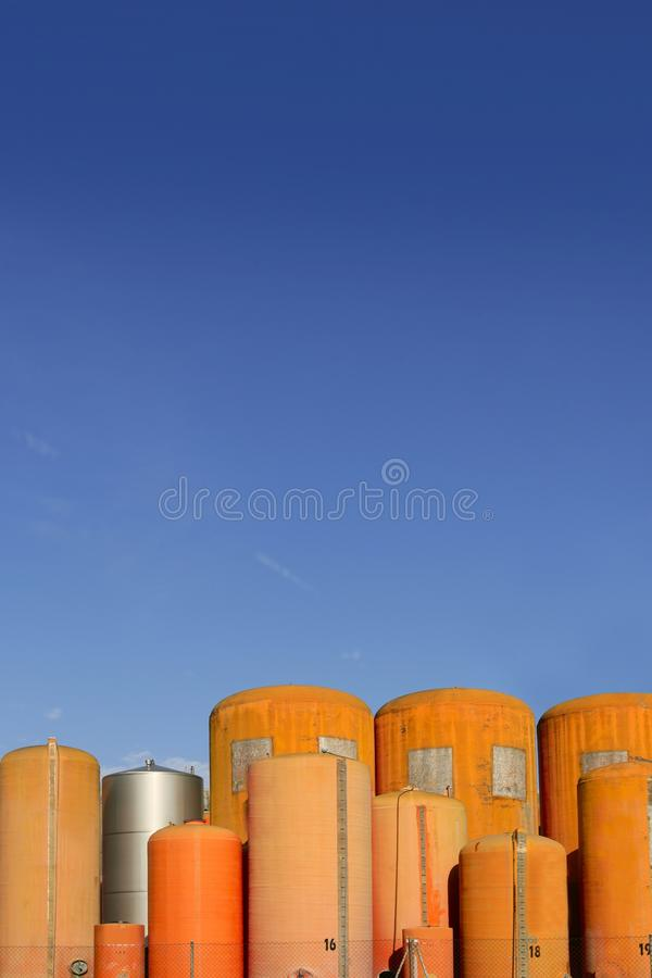 Download Liquid Cylinder Industry Container Stock Image - Image: 12745161