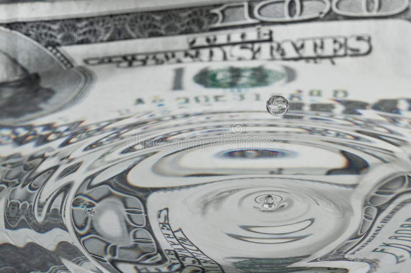 Liquid dollar royalty free stock photo