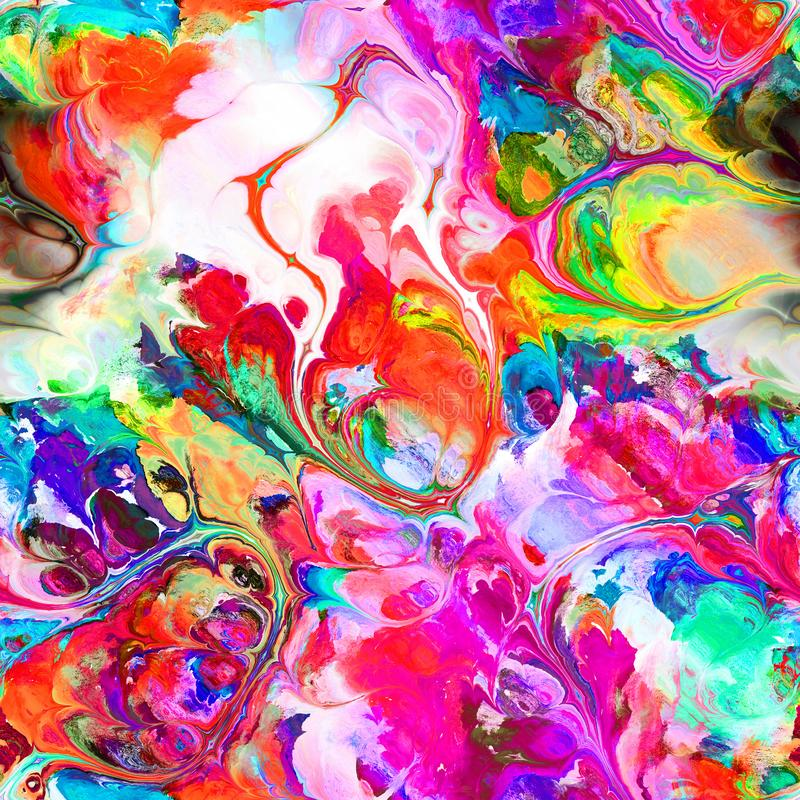 Liquid Flowing Abstract Ink Painting stock illustration