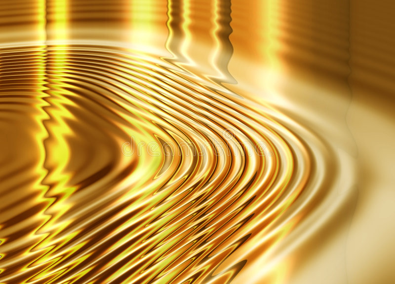Liquid Gold Background Royalty Free Stock Image