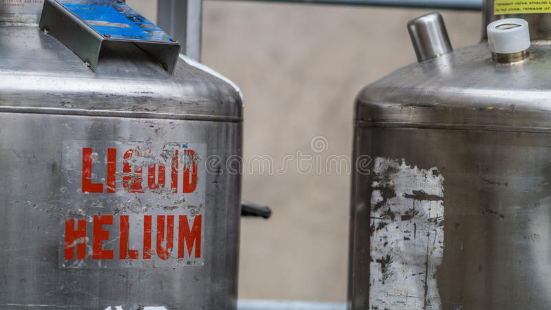 Liquid Helium. Metal Liquid Helium storage tanks royalty free stock images