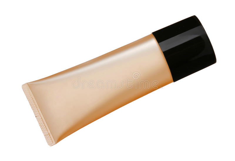 Liquid makeup foundation in tube royalty free stock photography
