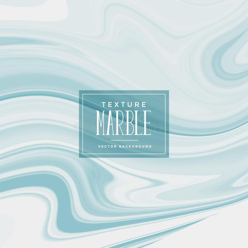 Liquid marble texture in soft blue color stock illustration