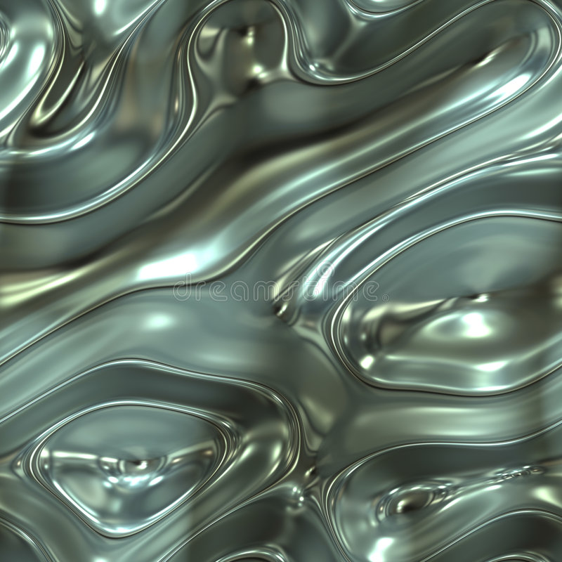 Liquid metal stock illustration