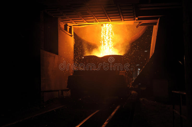 Download Liquid Metal From Casting Ladle Stock Photo - Image: 12274056